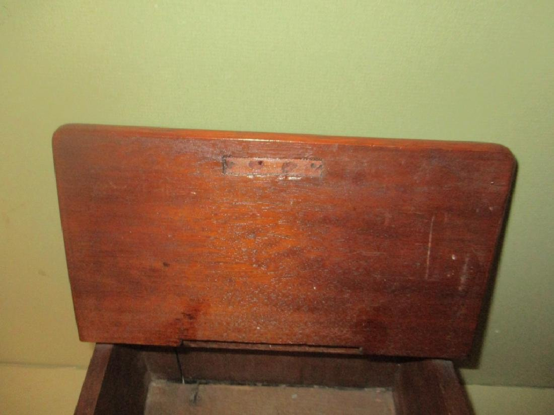 Antique Mahogany Letter or Rent Box - 2