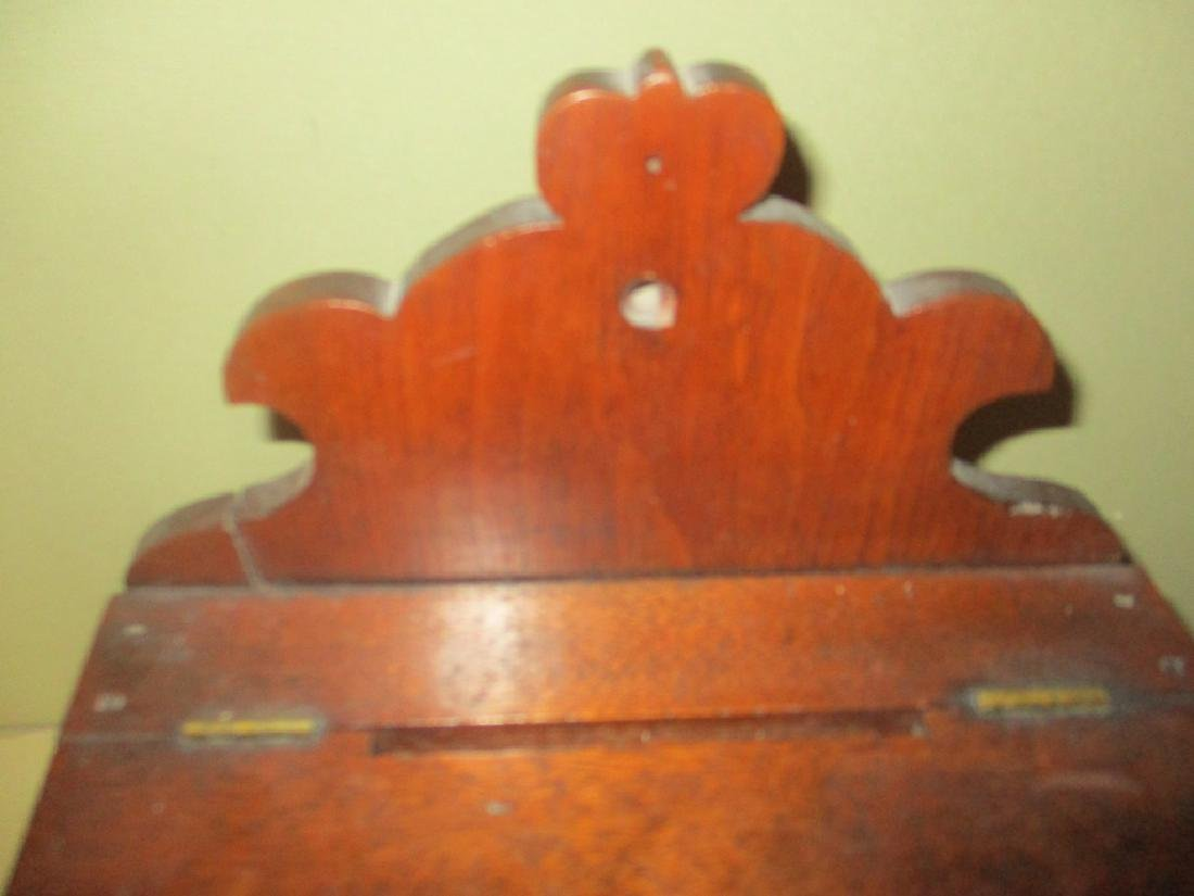 Antique Mahogany Letter or Rent Box - 3