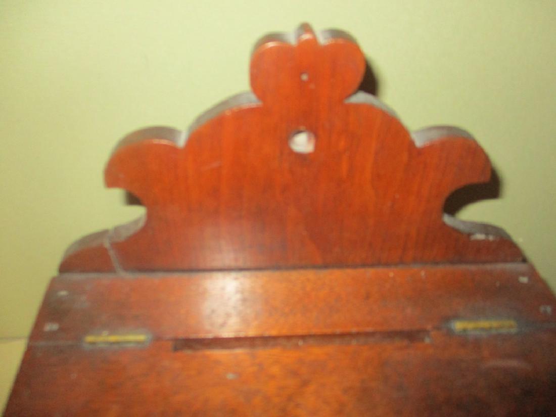 Antique Mahogany Letter or Rent Box - 3