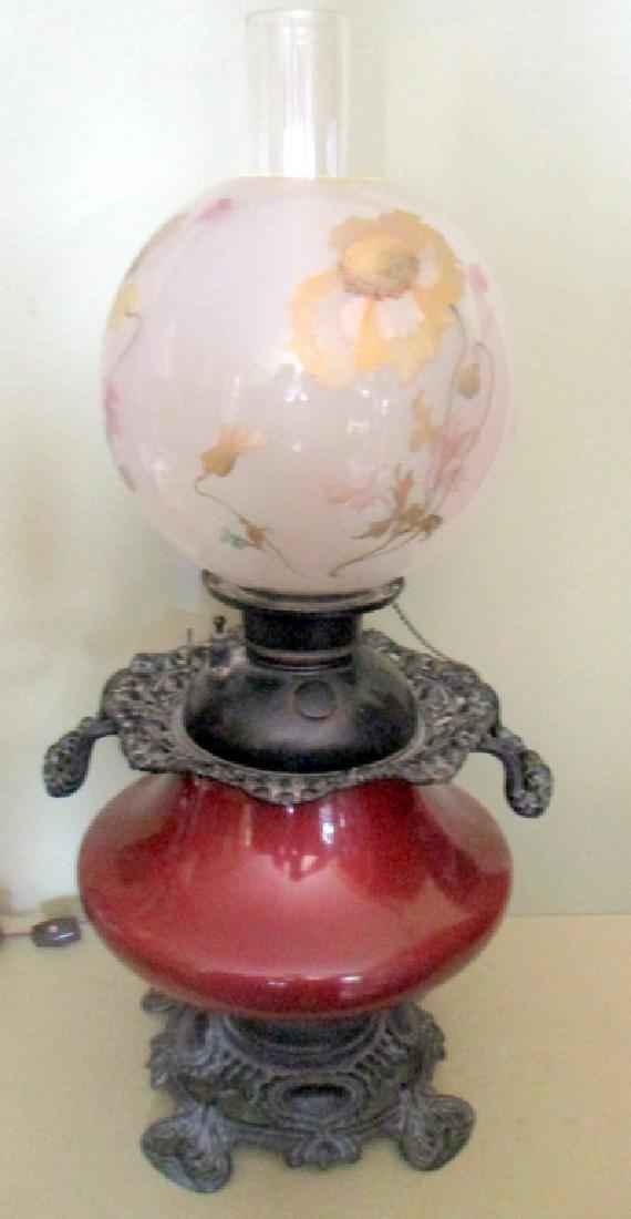 Art Nouveau Banquet Lamp