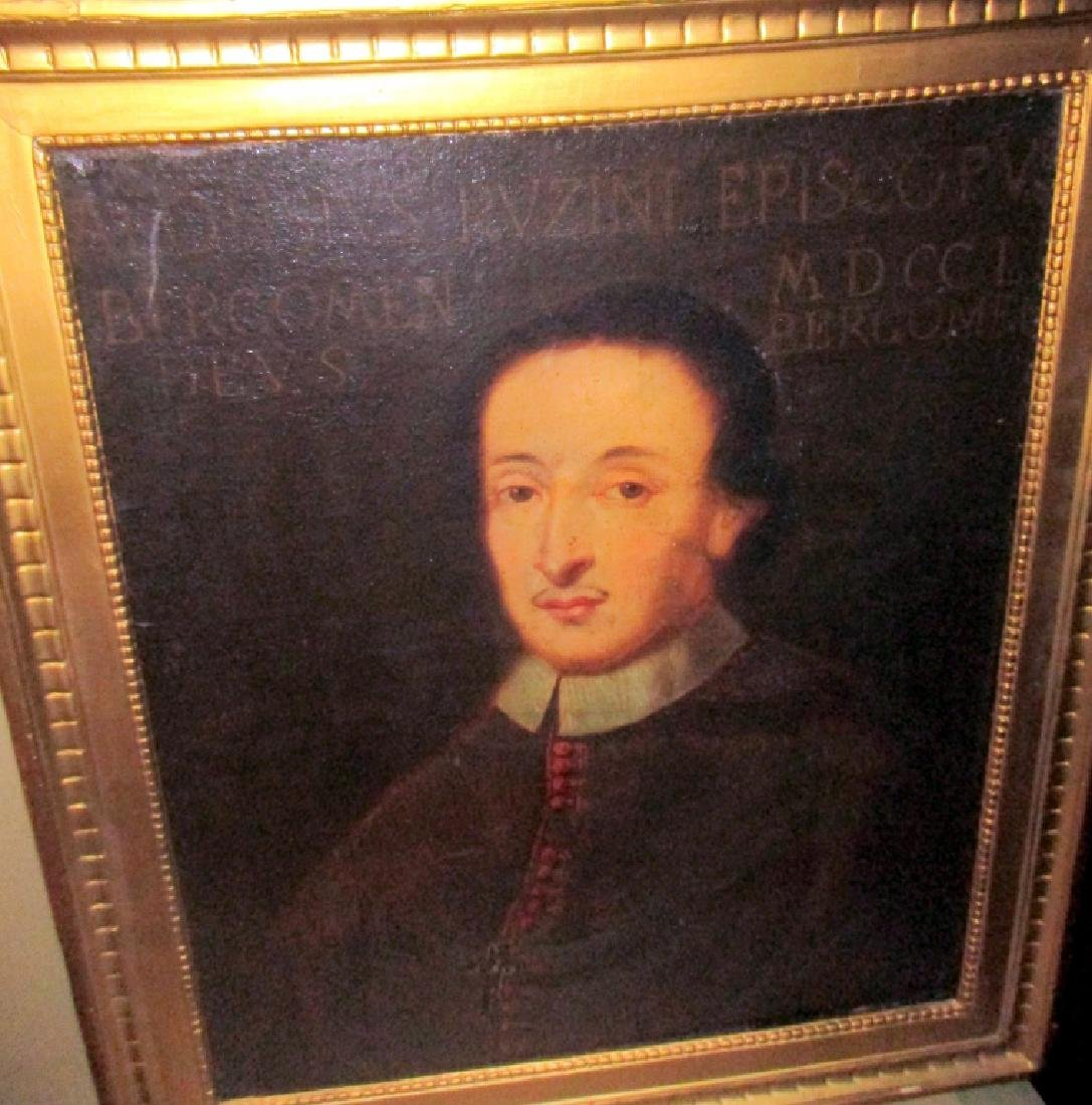 18th C. Oil on Canvas of Clergyman