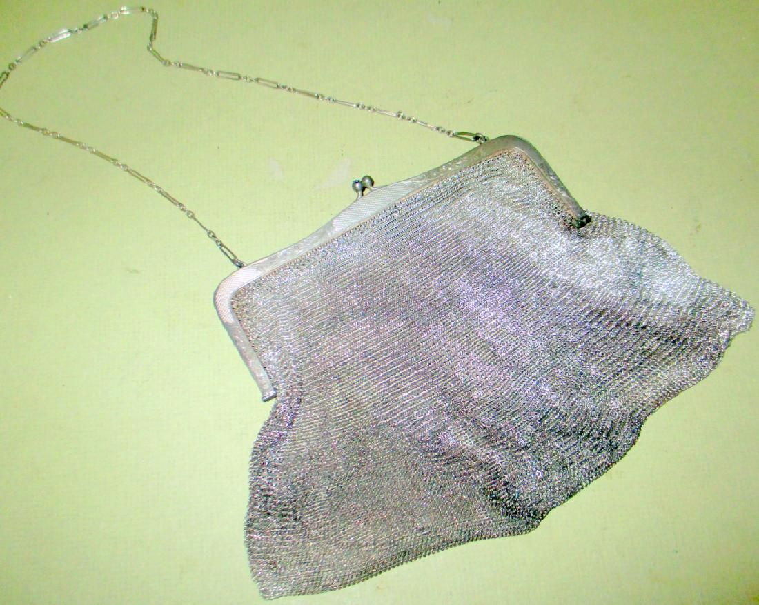 Sterling Silver Mesh Lady's Purse