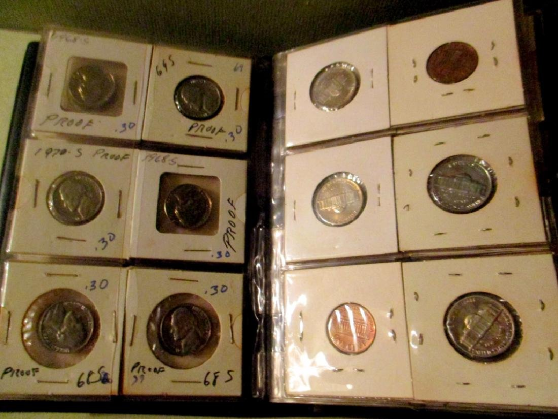 Coin Stock Book Filled With U.S. Coins