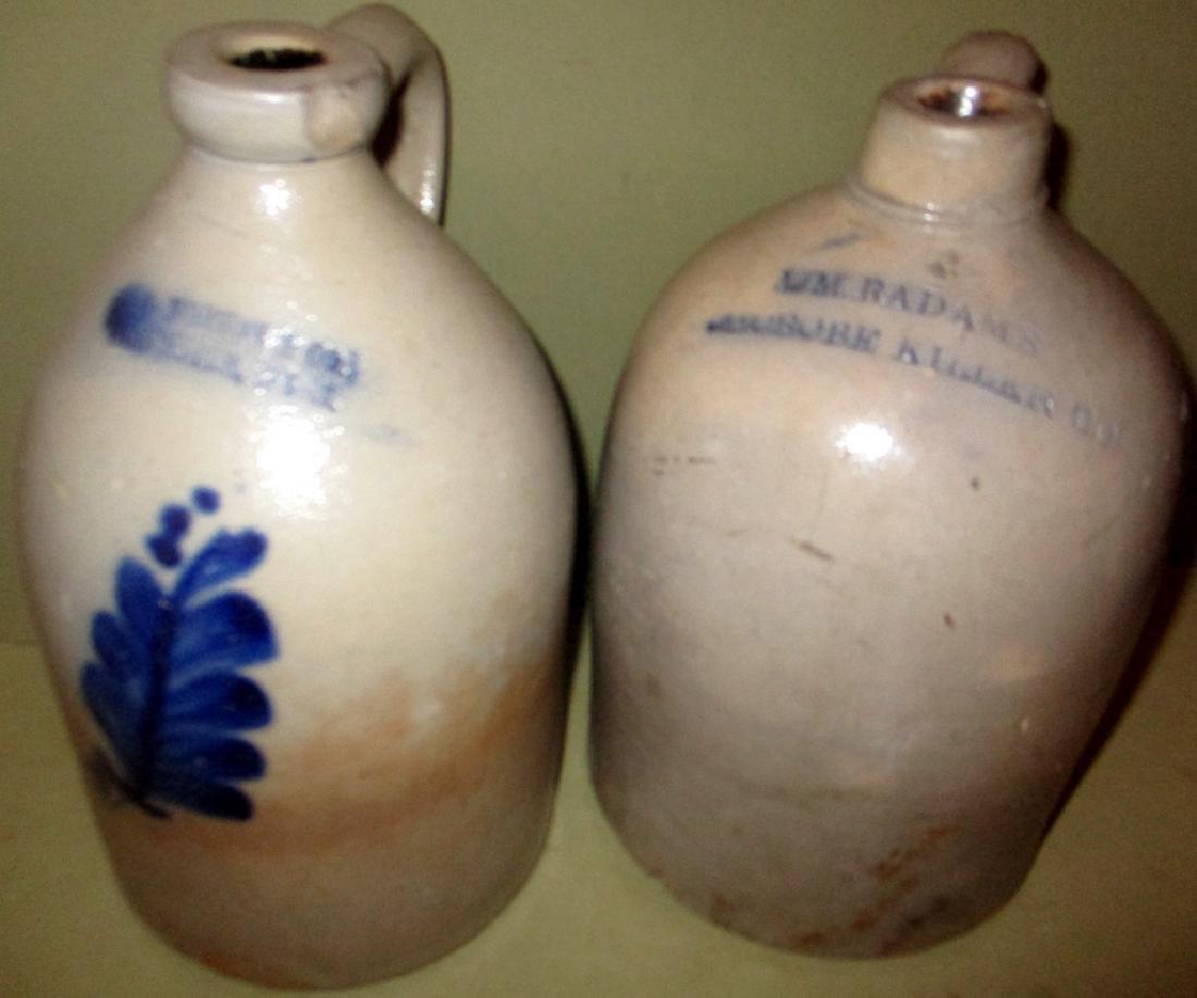 Two Salt Glaze One Gallon Jugs