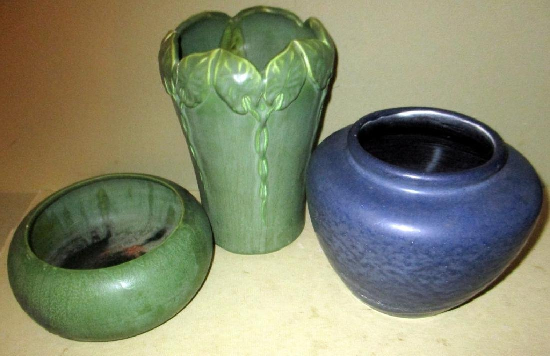 Three Pieces of Hampshire Pottery (as-is)