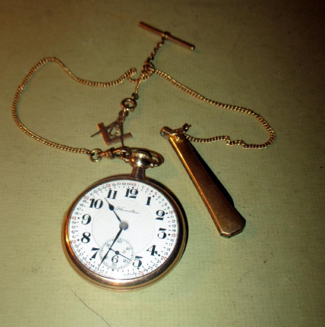 Men's Hamilton Pocket Watch Chain & Fob