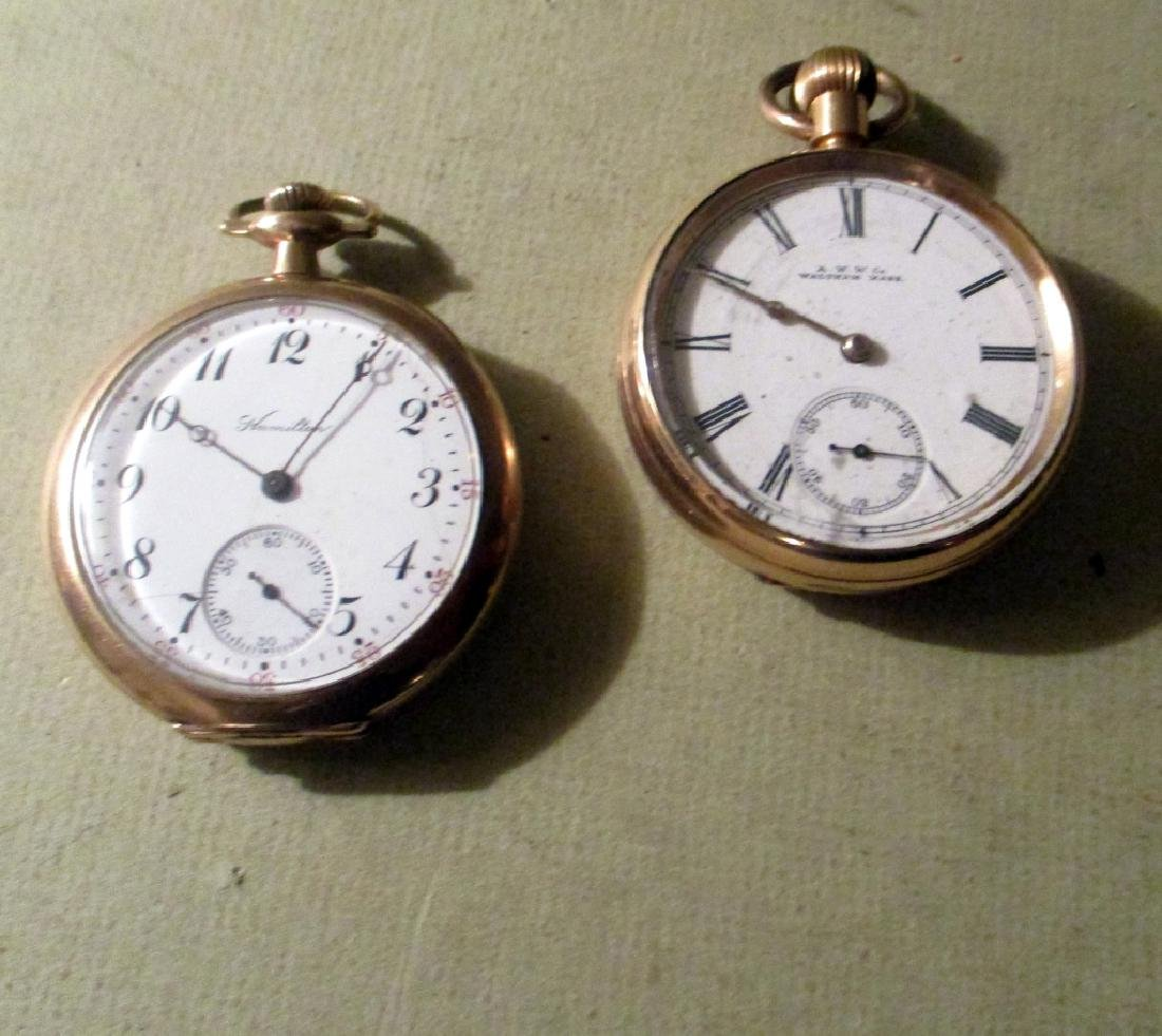 Two Men's Gold Filled Pocket Watches