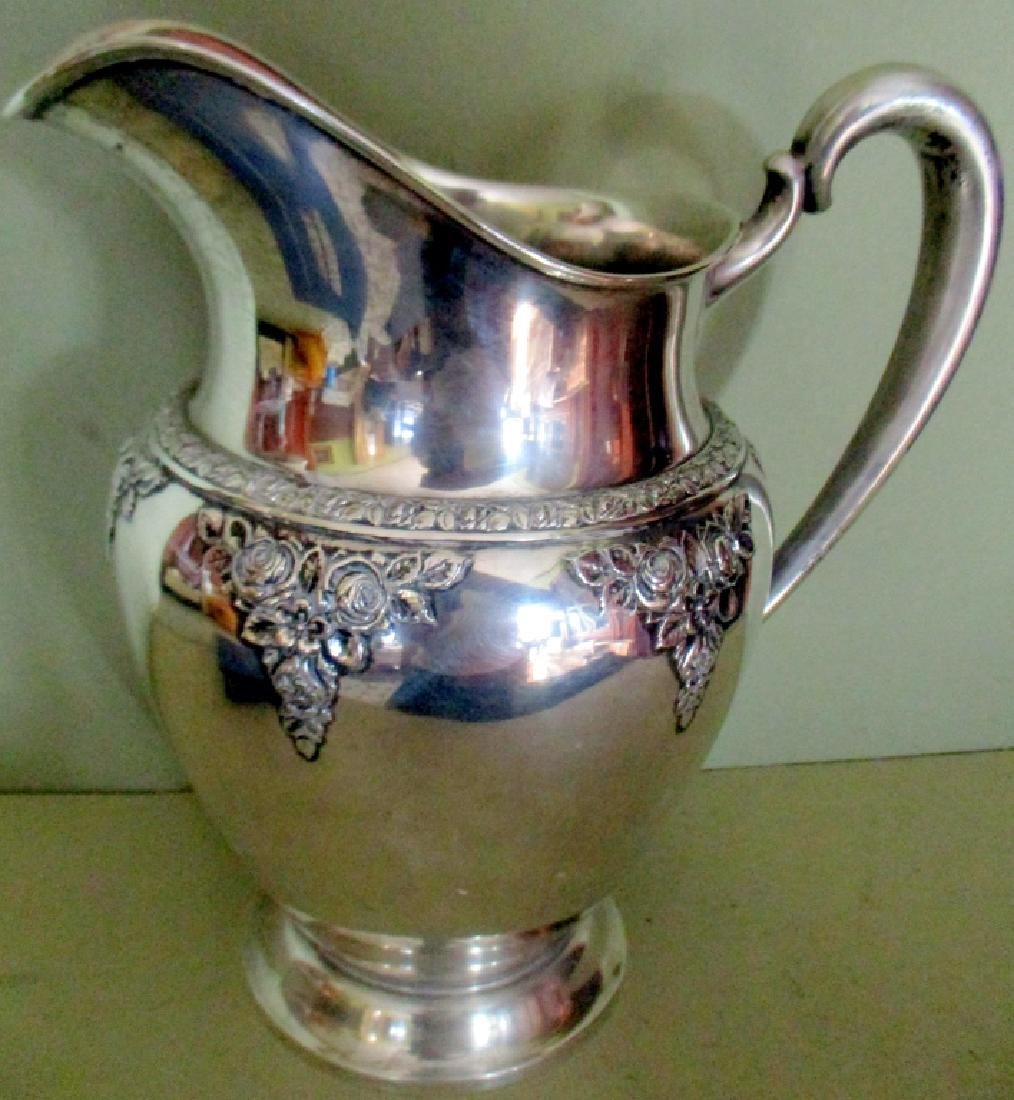 Beautiful Sterling Water Pitcher by Wallace