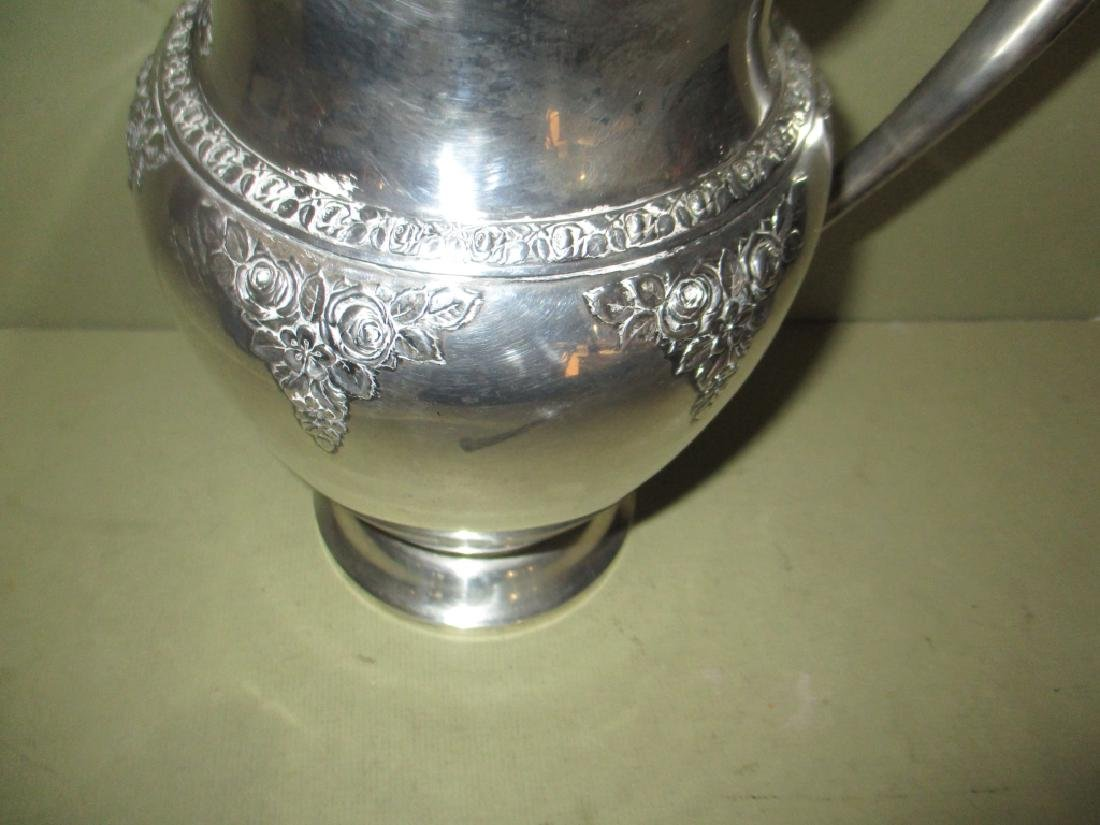 Beautiful Sterling Water Pitcher by Wallace - 2