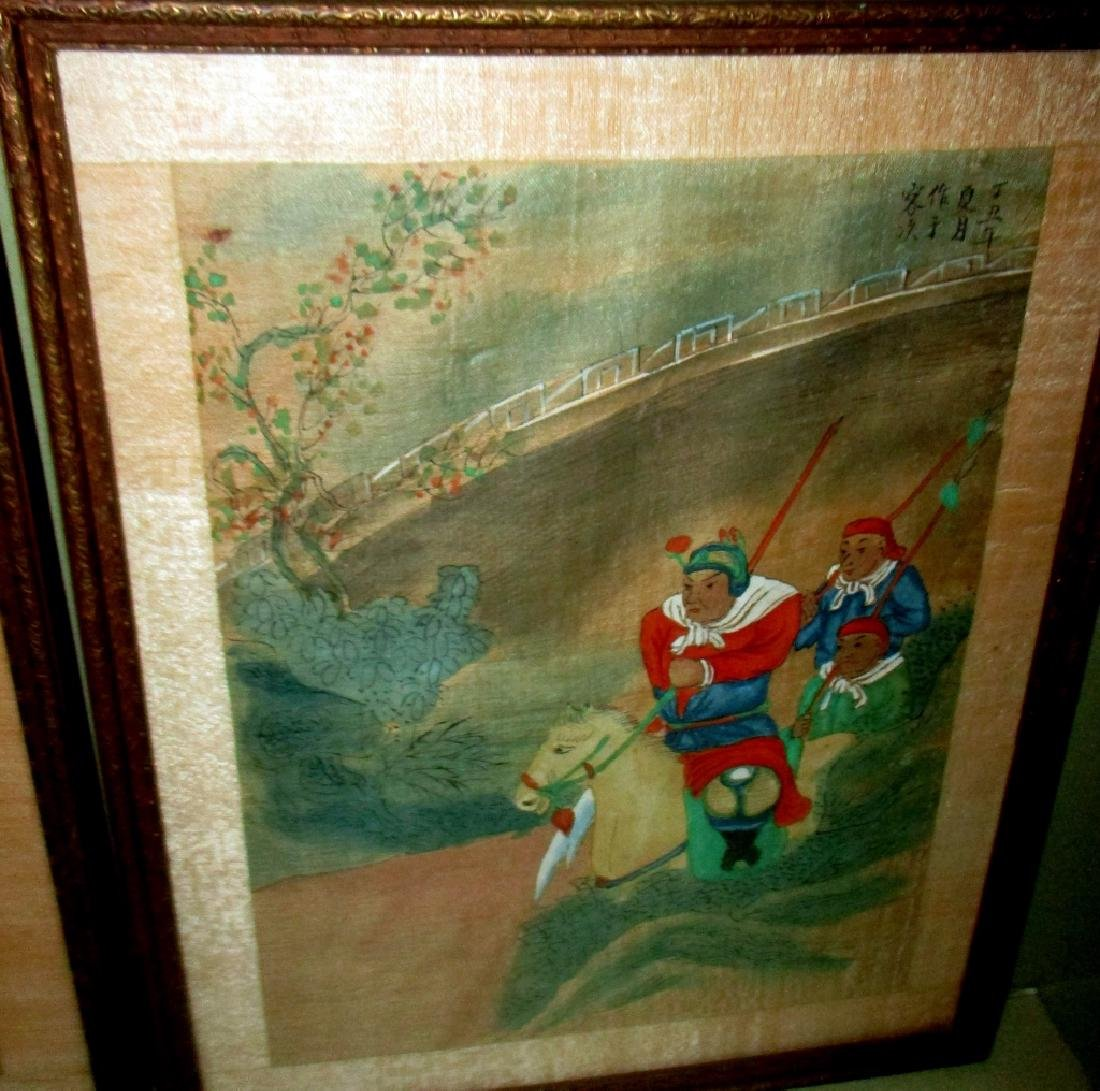 Two Chinese Paintings on Silk - 2