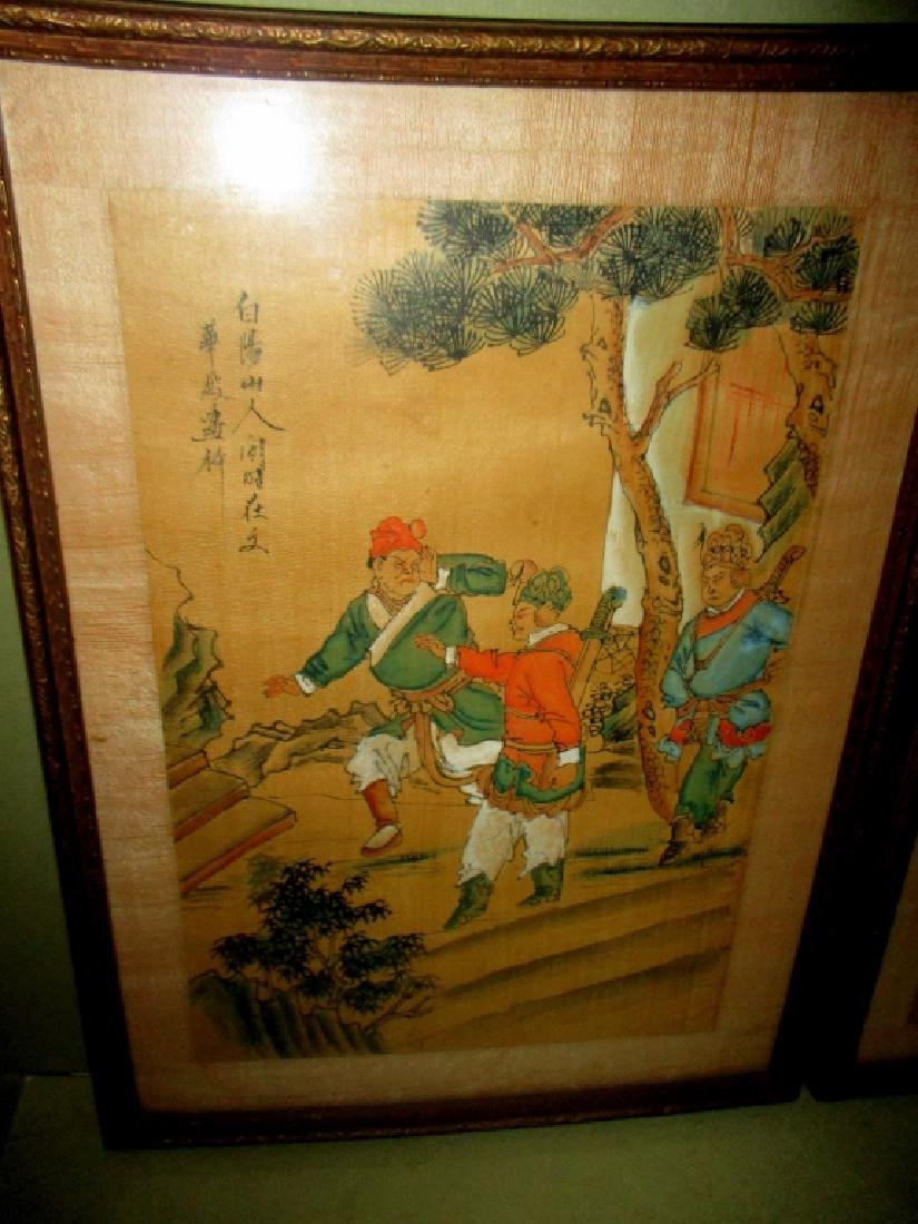 Two Chinese Paintings on Silk - 3