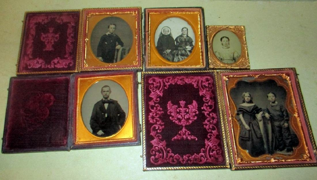 Lot of Five Family Tin Types
