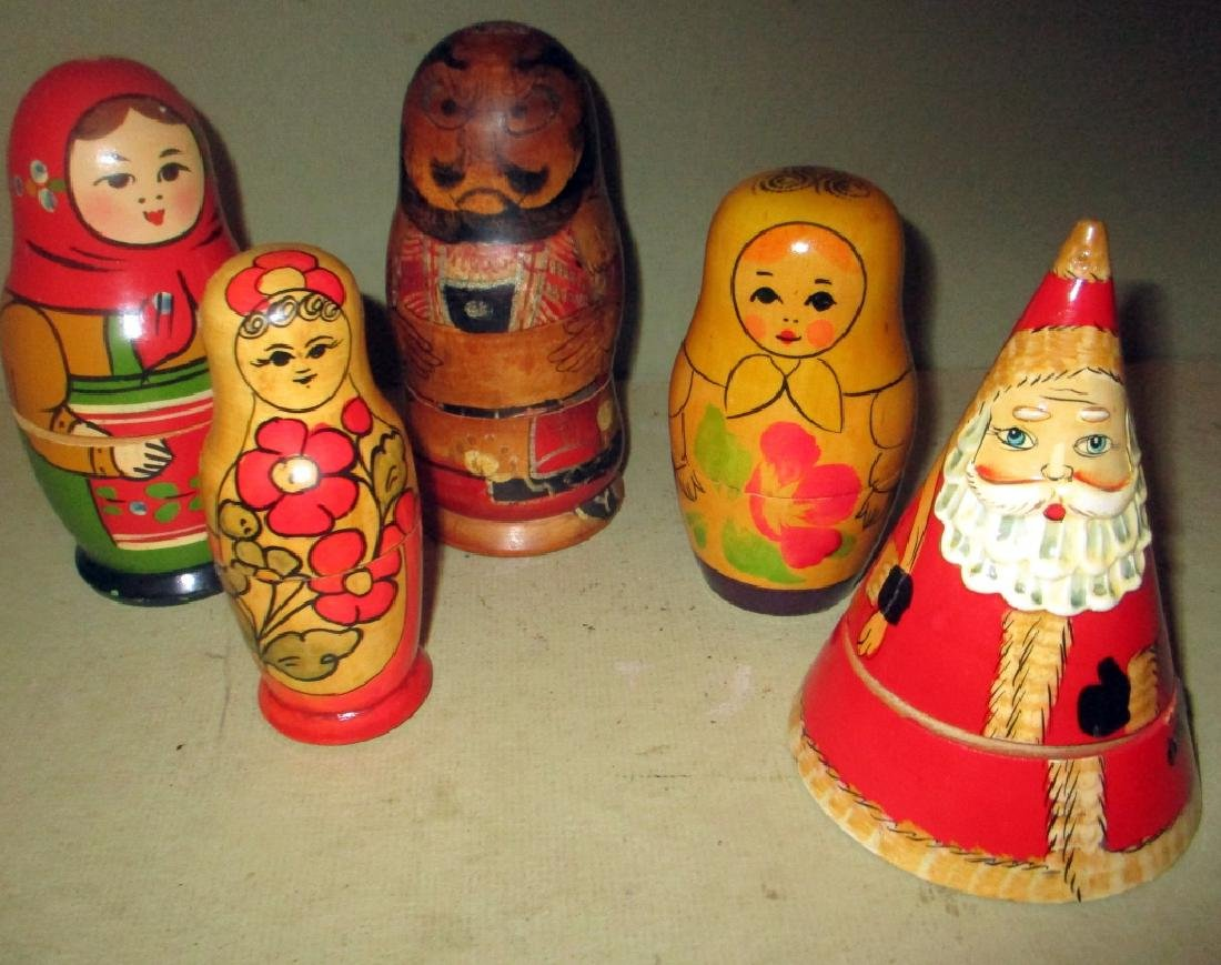 Five Russian Wood Doll in Doll Toys