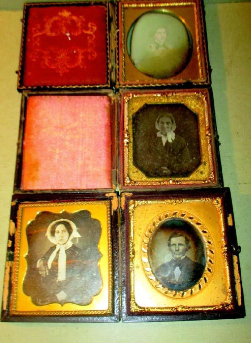 Four Daguerreotypes of Victorian People