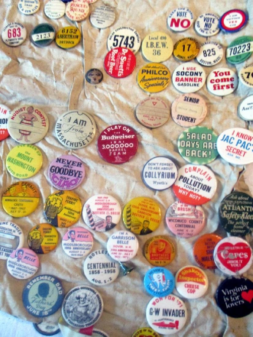2 Lots of Political & Novelty Buttons/Pins