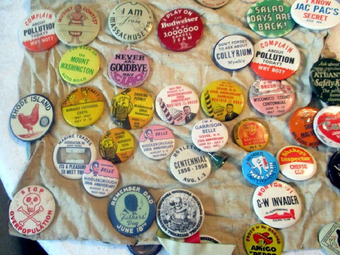 2 Lots of Political & Novelty Buttons/Pins - 2
