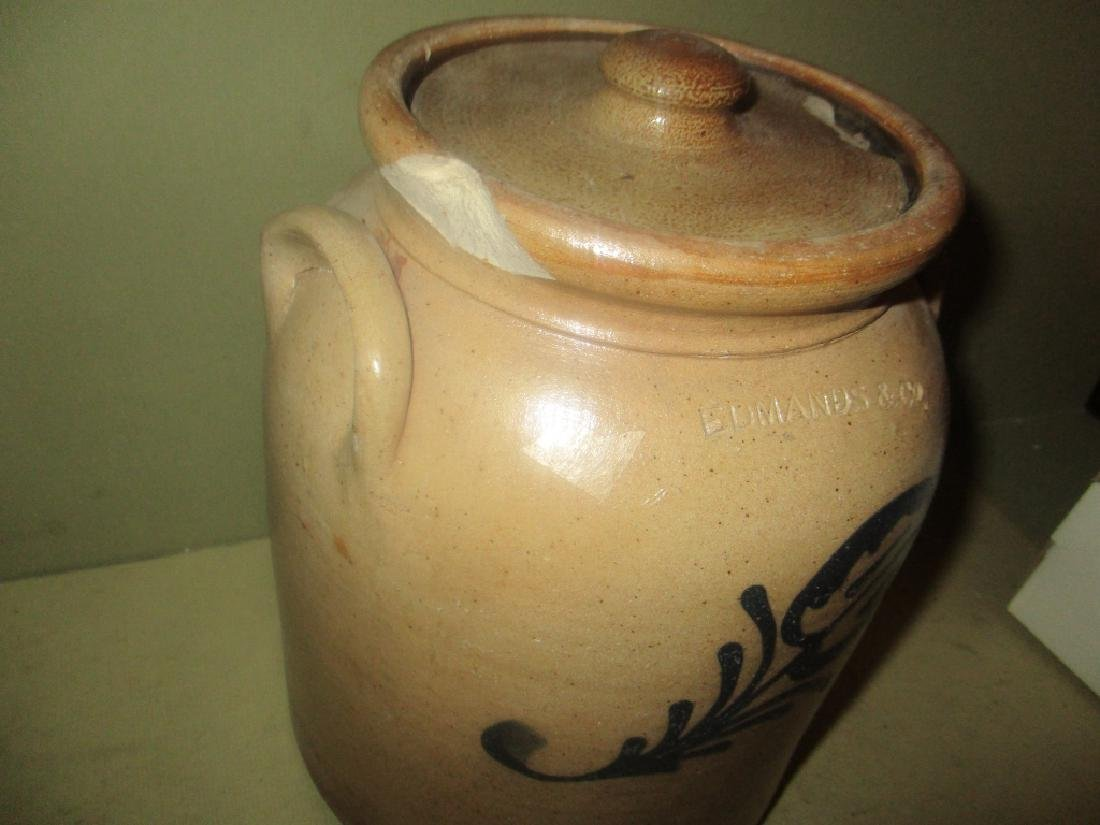 Antique Salt Glaze Crock with Cover - 2