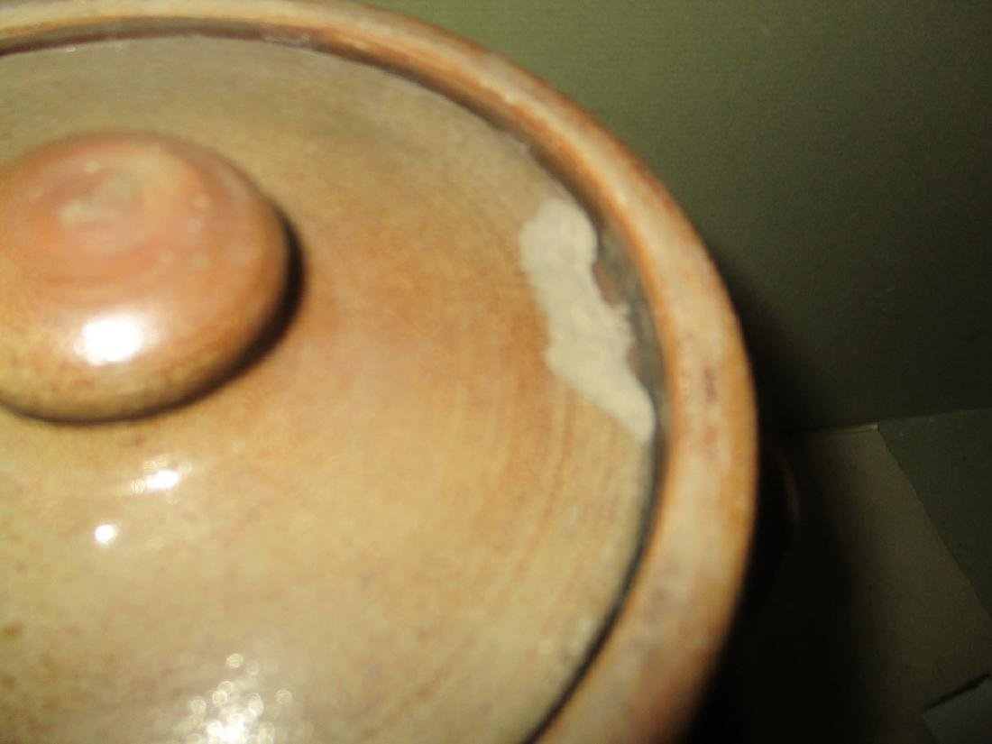 Antique Salt Glaze Crock with Cover - 3