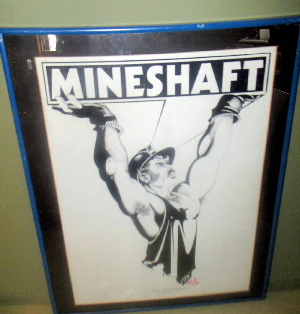 Artist Signed Poster for the Mineshaft NYC