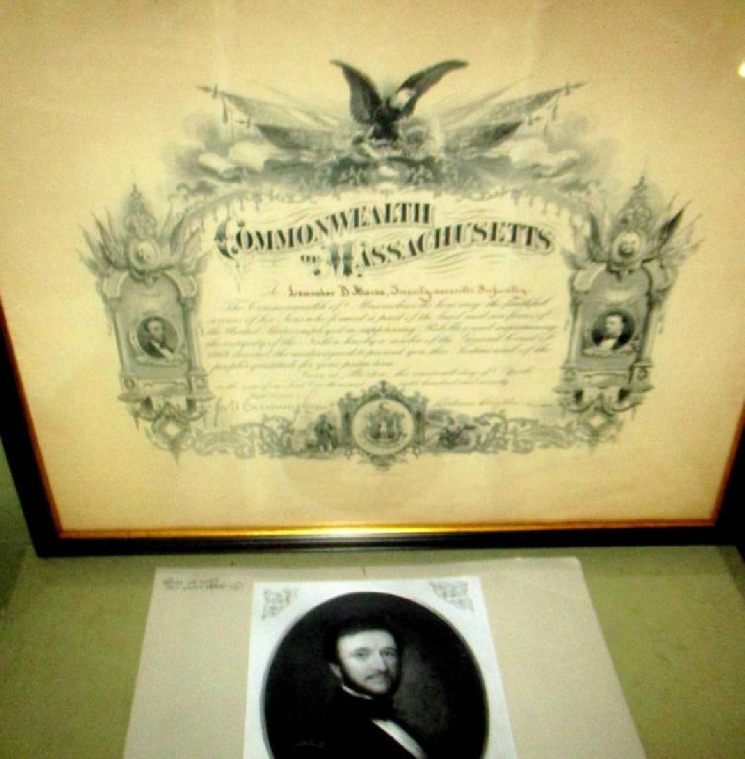 Civil War Presentation of Gratitude Dated 1870