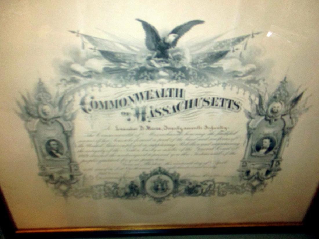 Civil War Presentation of Gratitude Dated 1870 - 3