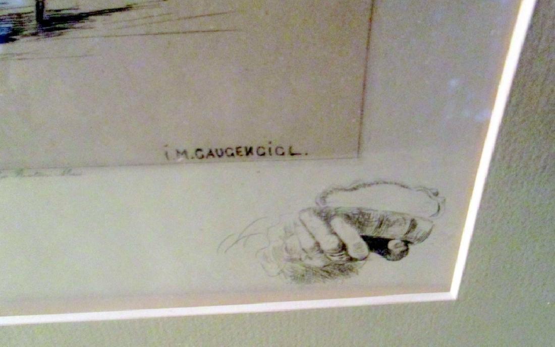 Etching of Man by I M Gaugingigl - 3