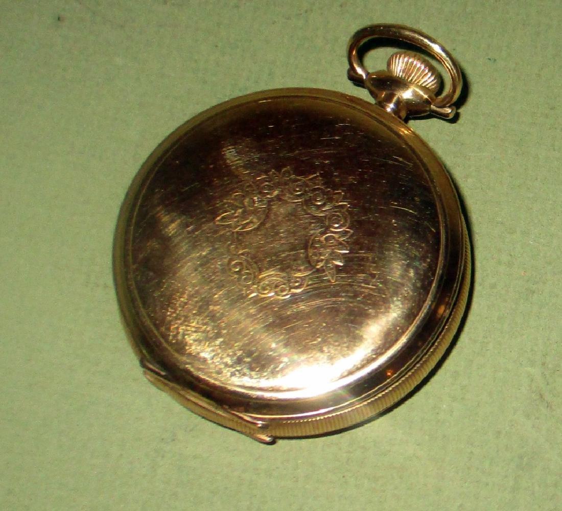 Waltham 14K Gold Men's Pocket Watch - 3
