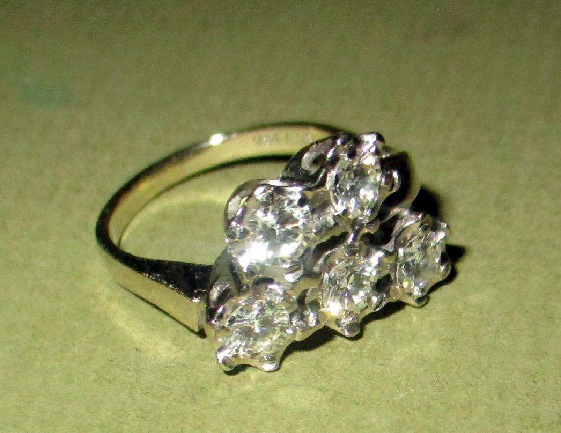Lady's Diamond Cluster & 14K Gold Ring