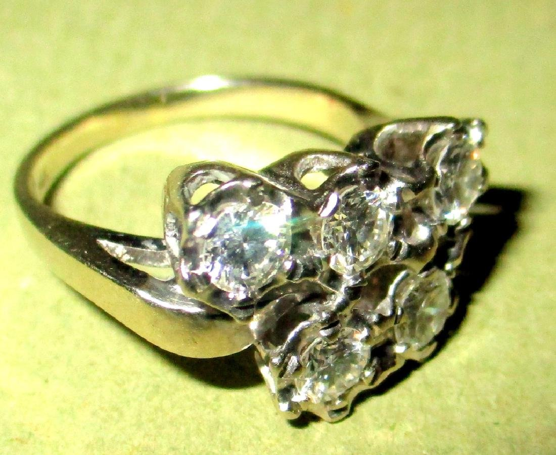 Lady's Diamond Cluster & 14K Gold Ring - 2