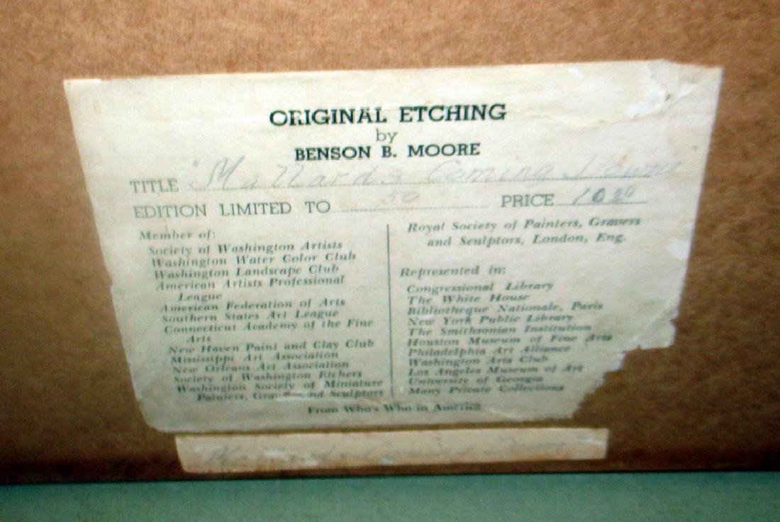 Etching of Mallards by Benson B Moore - 2