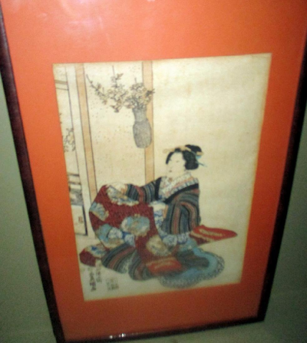 Pair of Japanese Block Prints Possibly Kunisada - 3