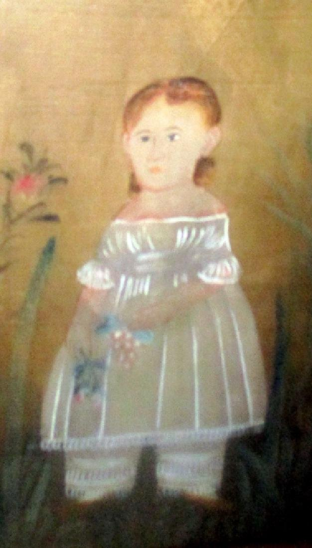 Primitive Style Painting of Small Girl