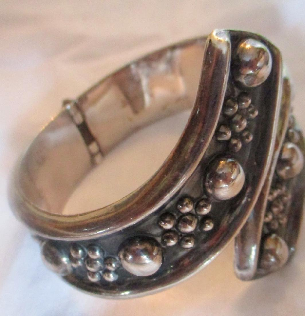 Mexican Sterling Cuff Bracelet - 2