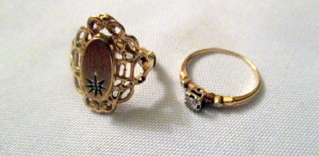 Two Antique Gold Rings