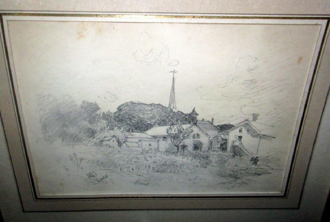 Pencil Drawing of New England by Walter Griffin
