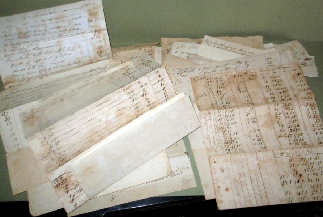 Lot of 1820s & 1830s Accountings