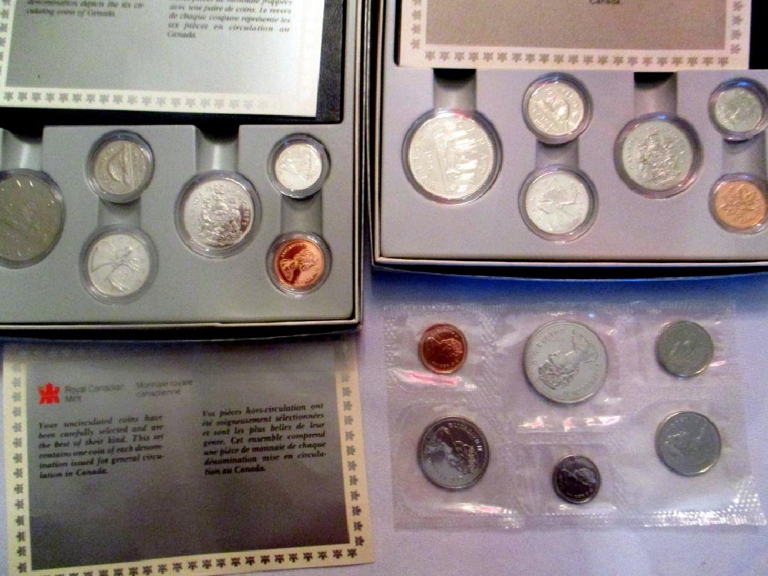 Three Uncirculated Sets of Canadian Coins