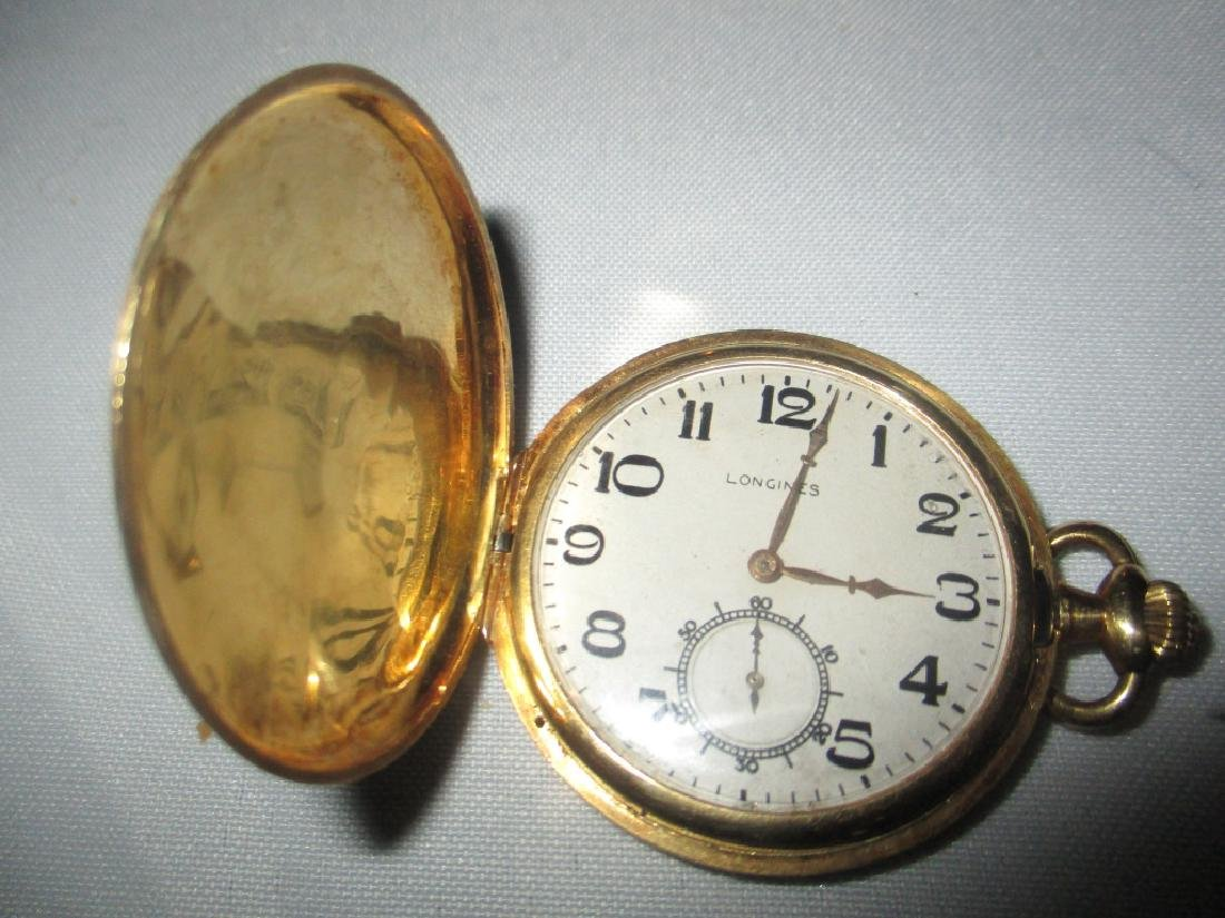 Men's 18K Yellow Gold Longines Pocket Watch