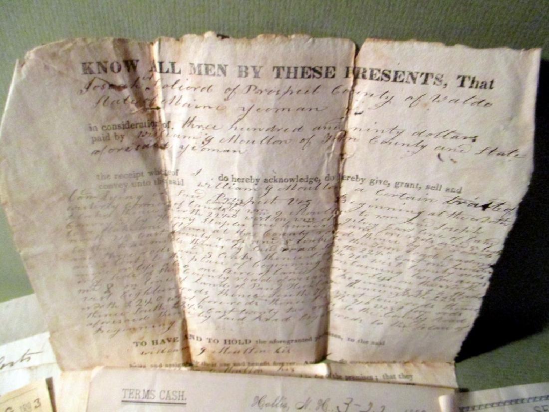 Josiah Colecord Deed & Ship Receipts