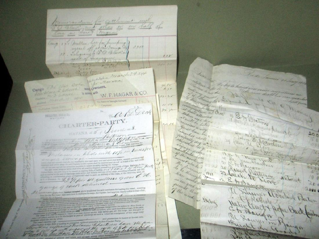 Collection of Capt. Melvin Colecord Ship Documents