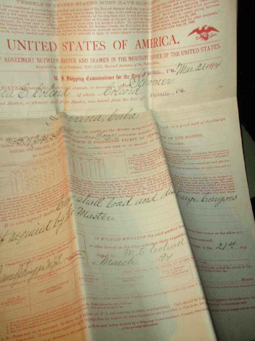 Collection of Capt. Melvin Colecord Ship Documents - 6
