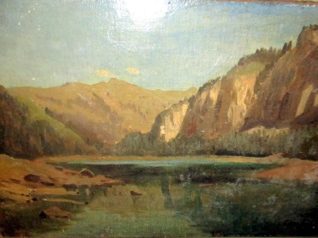 Oil Painting of Western Landscape.