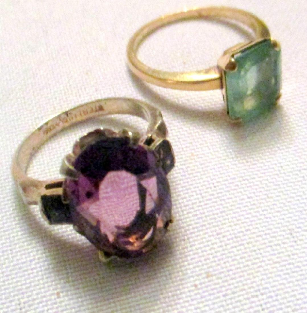 Two Lady's Rings Set with Stones