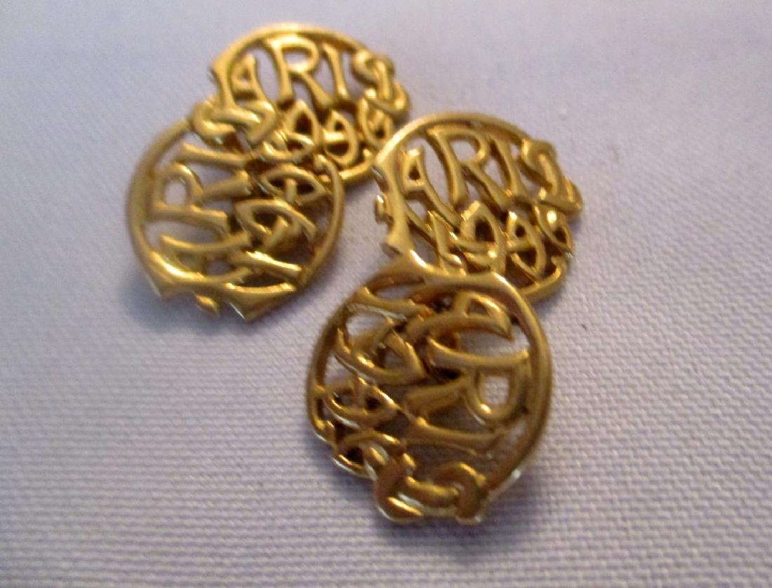 Pair of 14K Yellow Gold Cufflinks