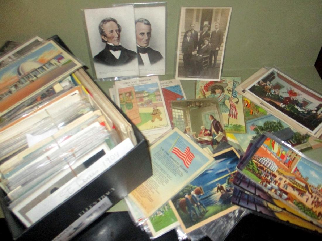 Shoebox Filled With Vintage Postcards