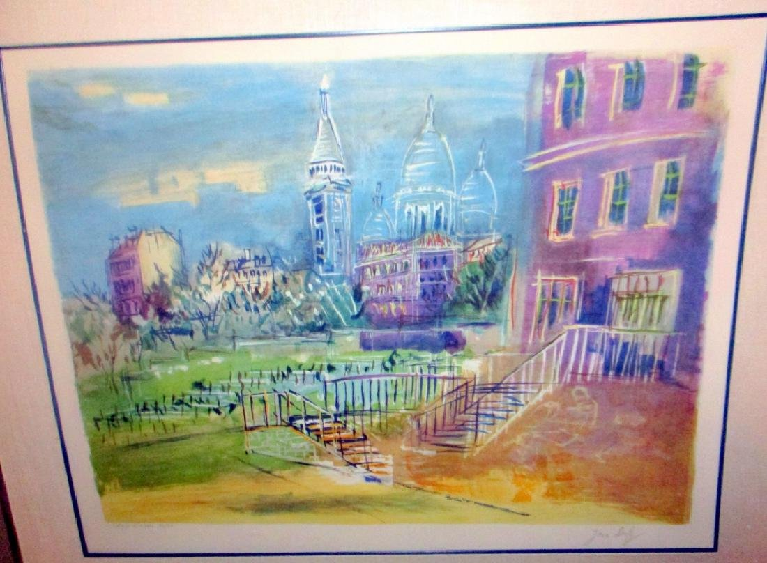 Jean Dufy Original Signed & Numbered Lithograph