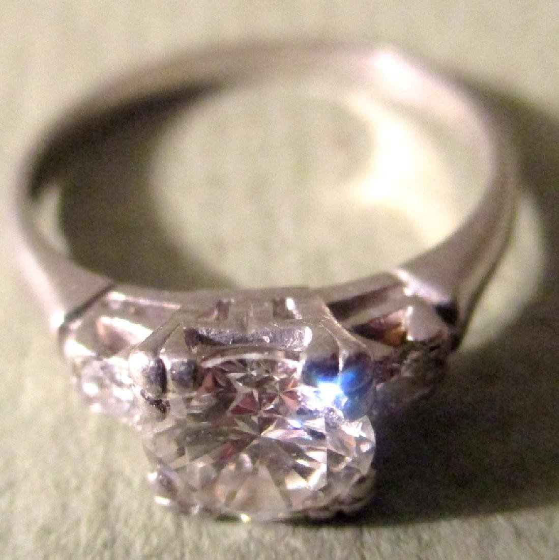 Platinum Lady's Ring with Diamonds