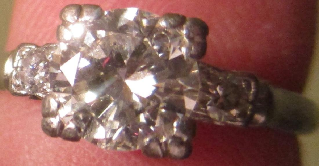 Platinum Lady's Ring with Diamonds - 2