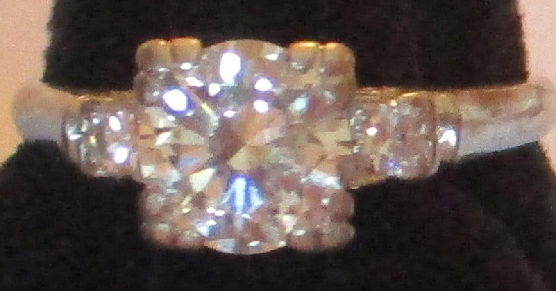 Platinum Lady's Ring with Diamonds - 3