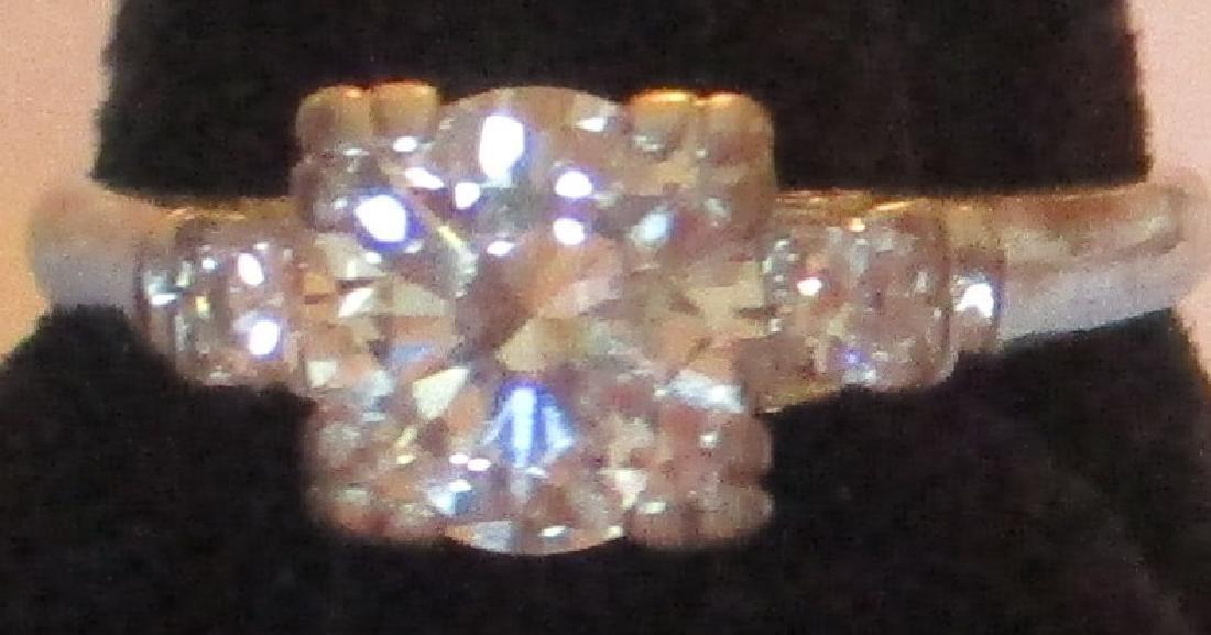 Platinum Lady's Ring with Diamonds - 3